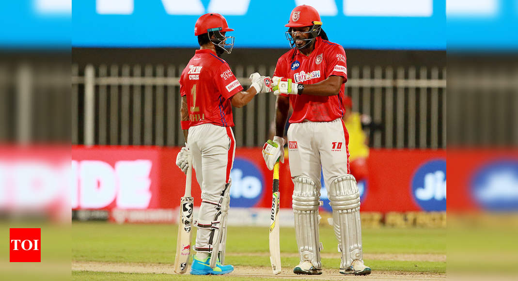 RCB vs KXIP: Kings XI Punjab finally find a way to win after Chris Gayle and KL Rahul's six-hitting competition | Cricket News – Times of India
