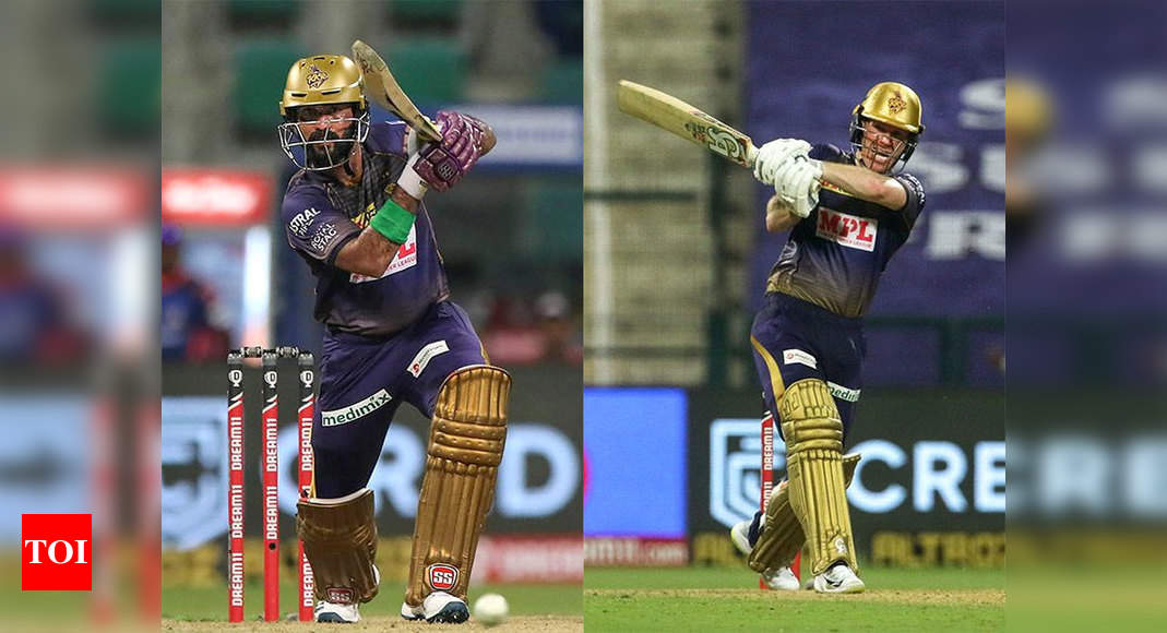 IPL 2020: Dinesh Karthik hands over Kolkata Knight Riders captaincy to Eoin Morgan - Times of India