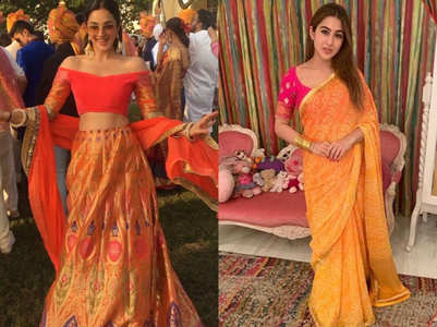 How to wear orange shade on second Navratri