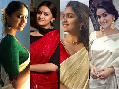 Best saree looks of Keerthy Suresh