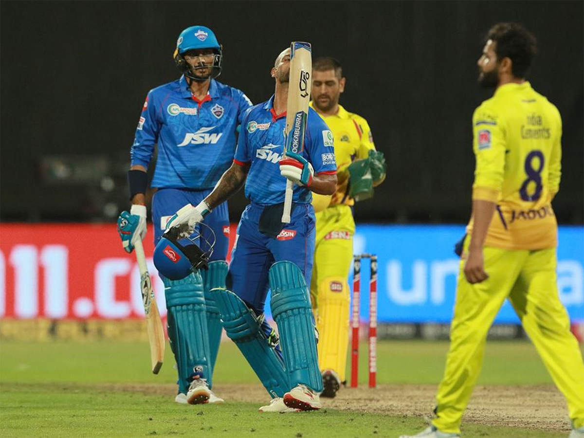 DC vs CSK: Dhawan strikes maiden IPL hundred; DC go on top of the table  with 5-wicket win over CSK | Cricket News - Times of India