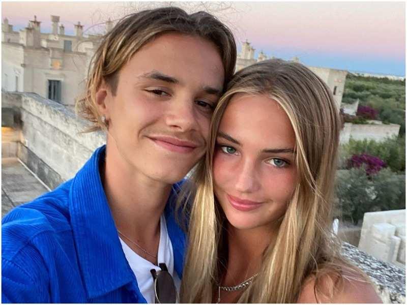 Romeo Beckham and Mia Reagan (Pic: @romeobeckham/Instagram)
