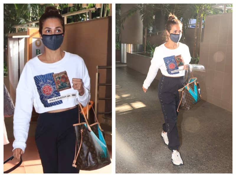 Photos: Malaika Arora looks comfy and chic as she returns from her Goa vacation