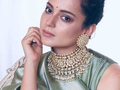 Kangana aces the saree look with elegance