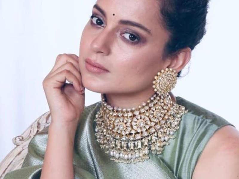 Kangana Ranaut aces the saree look with elegance