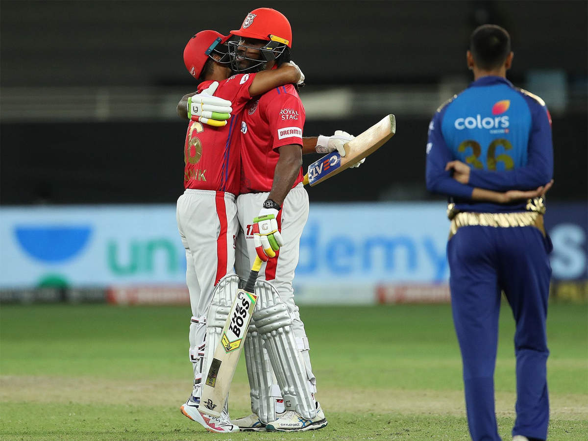 MI vs KXIP: Kings XI Punjab trump Mumbai Indians in second Super Over in dramatic IPL game | Cricket News - Times of India
