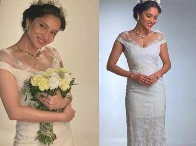 Ankita Lokhande turns a shy bride; pics