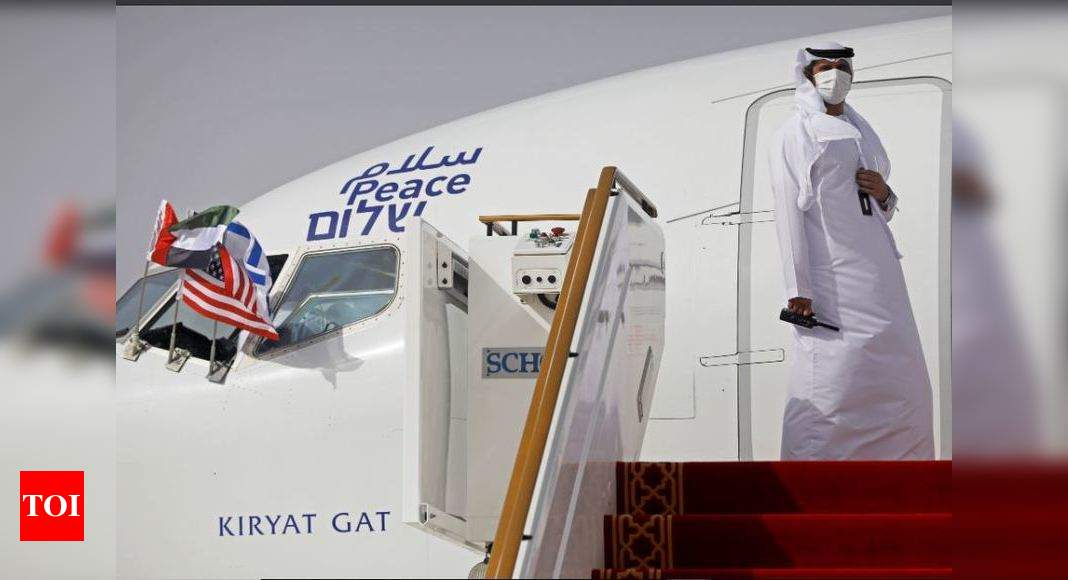 First commercial passenger flight from UAE lands in Israel – Times of India