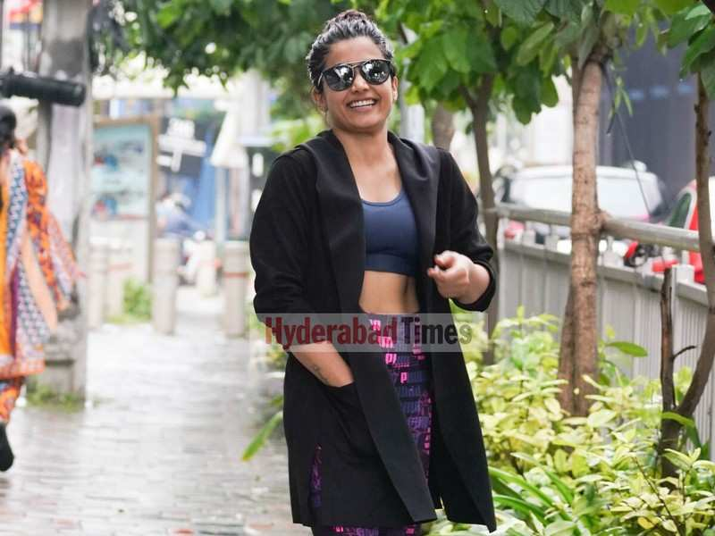 Spotted: Rashmika Mandanna sporting a million-dollar smile after her workout session at a gym