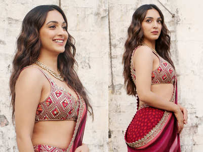 Kiara Advani just wore a sharara set as a sari and it could be your Karwa Chauth outfit this year