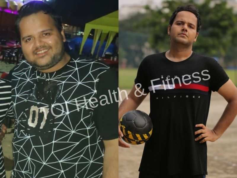 Weight loss: This guy exercised for 2 hours everyday in the lockdown and lost 32 kilos!