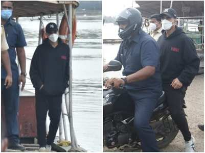 Akshay takes a ferry as he heads to work