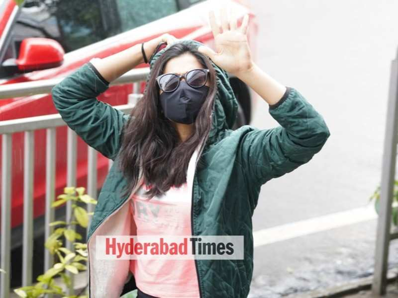 Spotted: Rashmika Mandanna is back in the hood as she heads for a workout session