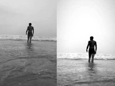 Photo of Siddhant enjoying the beach in Goa
