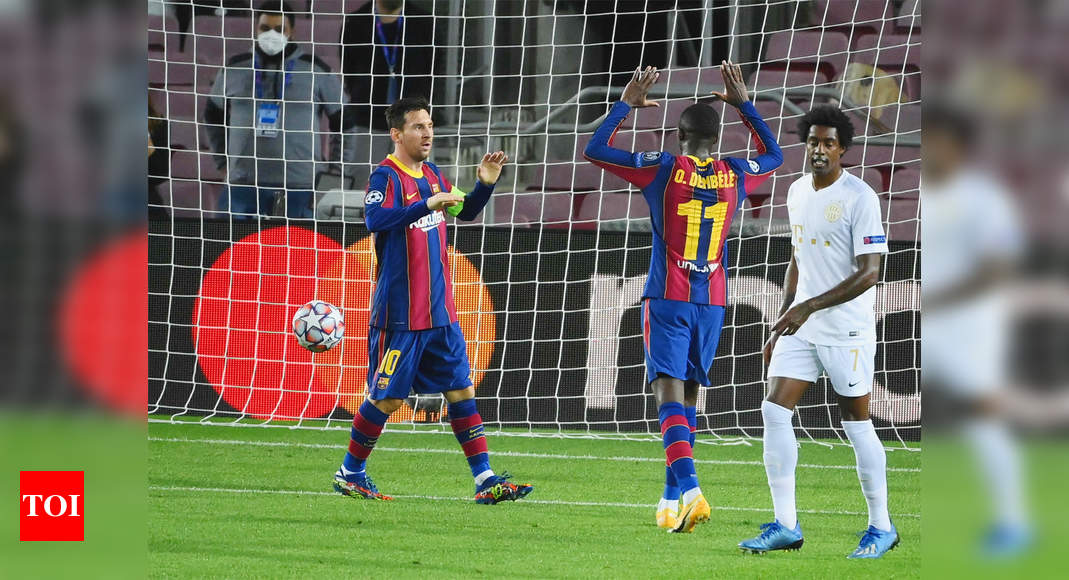 Sweet 16 for Messi as Barcelona thump Ferencvaros