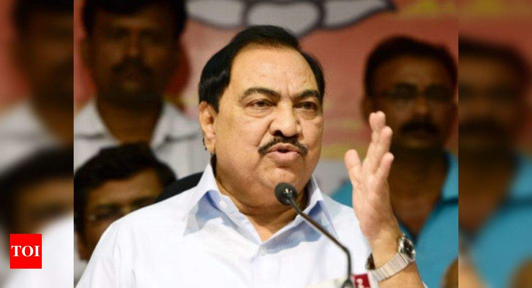 BJP leader Eknath Khadse to join NCP, says Maharashtra minister Jayant Patil - Times of India