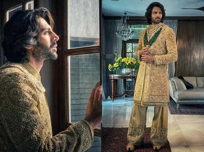 Kartik Aaryan nails the new-age Dulha look in a sherwani and palazzo pants