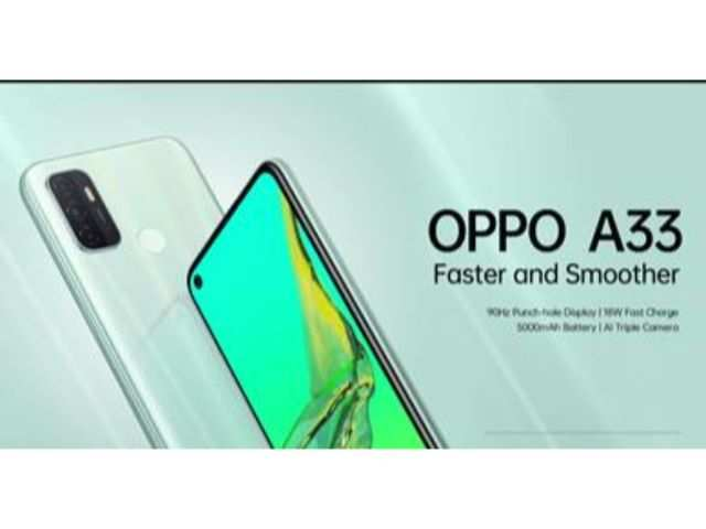 Oppo A33 with triple rear camera launched at Rs 11,990