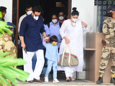 Mom-to-be Kareena returns to Mumbai