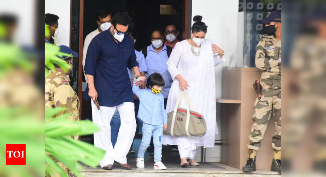 Mom-to-be Kareena returns to Mumbai