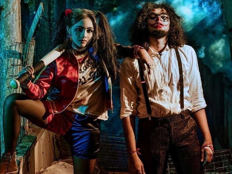 Uppum Mulakum siblings, Rishi and Shivani stun as Harlequin and Joker in their latest photoshoot; see pics