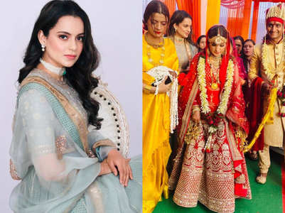 Kangana oozes glam at her brother's wedding
