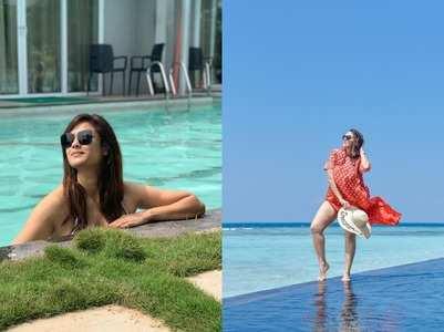 Actresses slay in beachwear on getaways