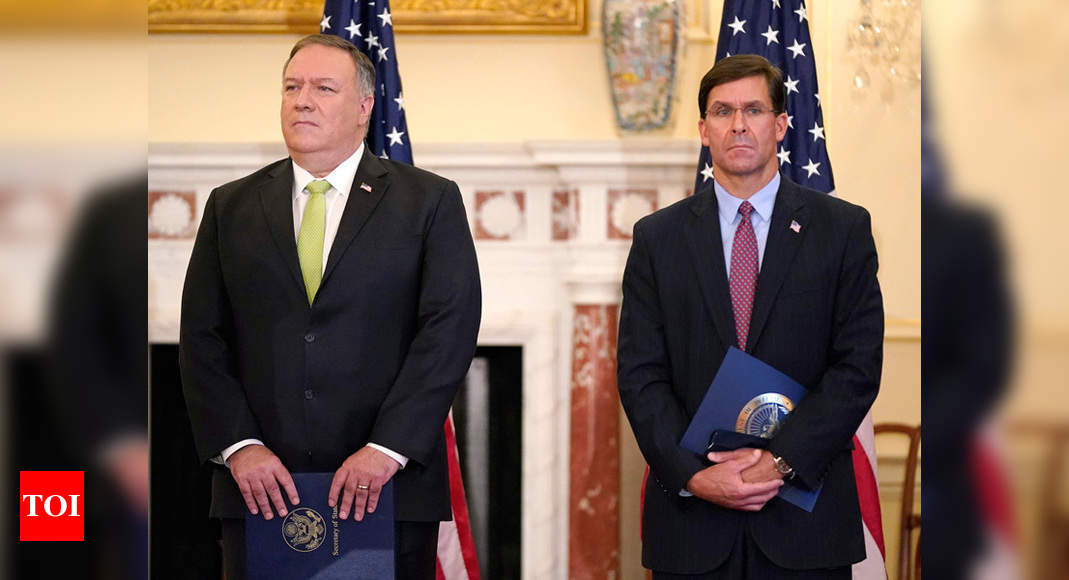 Amid election turmoil in US, Pompeo and Esper to visit India next week for geo-strategic business