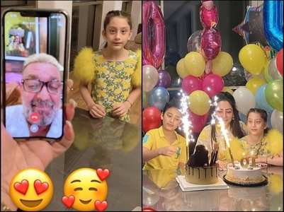 THIS is how Dutt celebrated his kids' b'day
