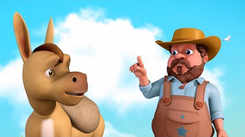 Watch Popular Children Telugu Nursery Story 'Farmer And The Silly Donkey' for Kids - Check out Fun Kids Nursery Rhymes And Baby Songs In Telugu