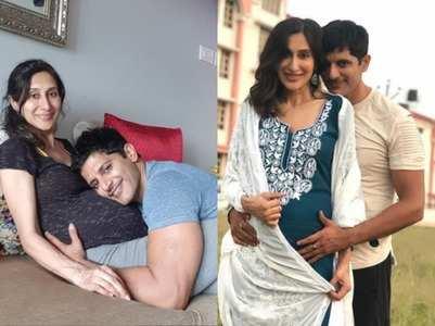 Karanvir lies on Teejay's baby bump