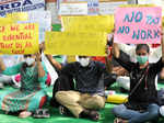 Doctors hold protest over delayed salaries