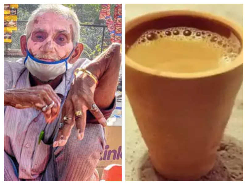This 70-year-old man sells tea with broken arm and backbone