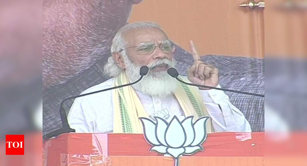 'Phir ek baar, NDA sarkar in Bihar': PM Modi at election rally in Sasaram | India News – Times of India