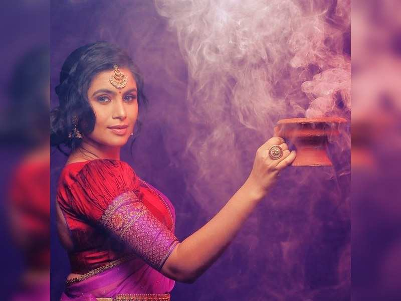 Sonu Gowda's new festive photoshoot for Dasara is stunning