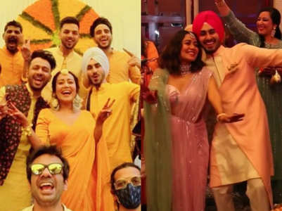 Pics from Neha Kakkar's Haldi and Mehendi
