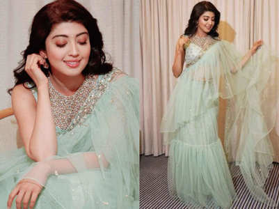 Pranitha Subash's sari with a twist is HOT