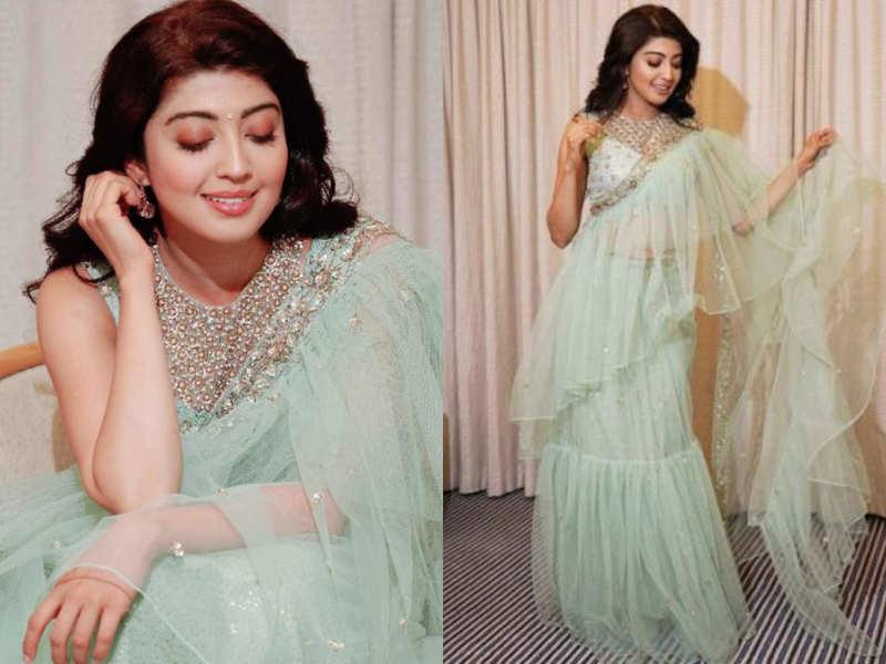 Pranitha Subash's sari with a twist is HOT