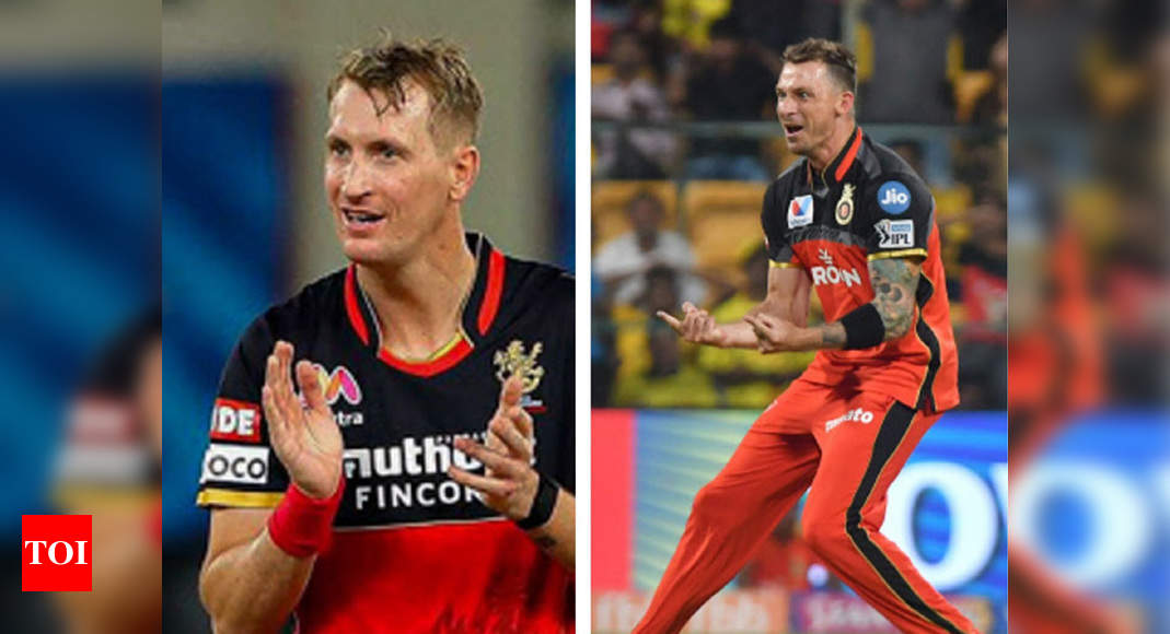 IPL 2020: Two of a kind, Steyn and Morris enjoy each other's company at RCB   Cricket News – Times of India