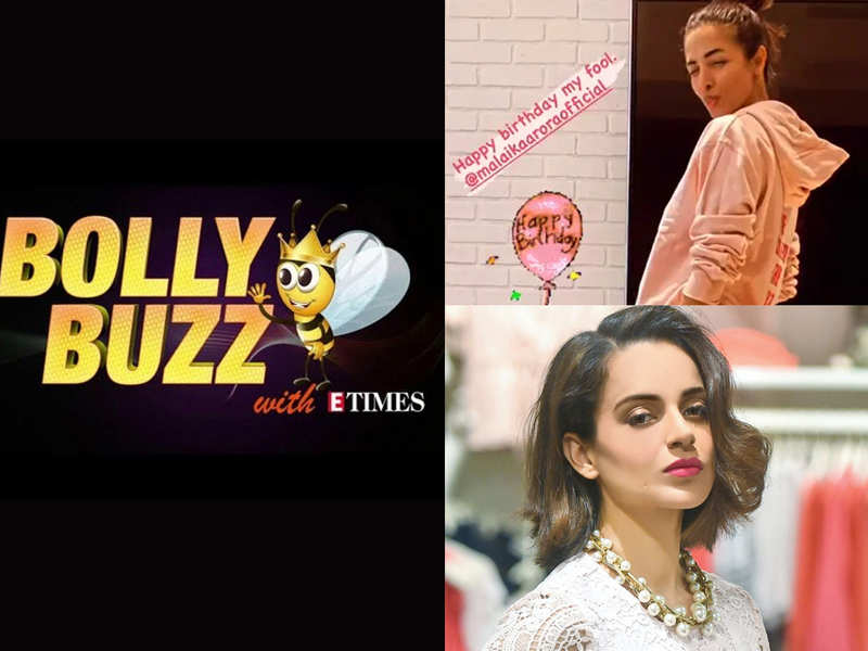 "Bolly Buzz: Arjun Kapoor wishes his 'fool' Malaika Arora; Kangana says, ""waiting to be in jail soon"""