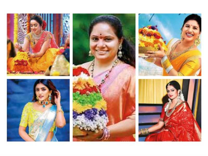 Bathukamma brings in cheer as women celebrate with song, dance & flowers
