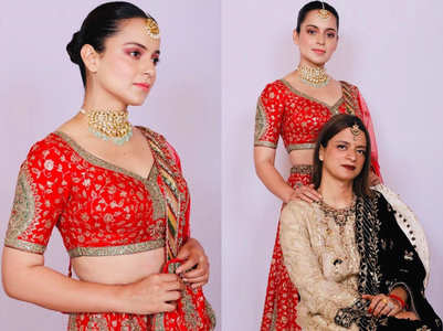 Kangana Ranaut proved she is a queen with her expensive lehenga