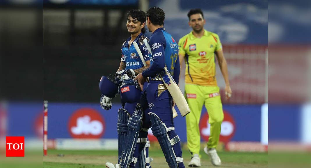 CSK vs MI: Ishan Kishan stars after Boult and Bumrah show in MI's comprehensive win over CSK | Cricket News – Times of India