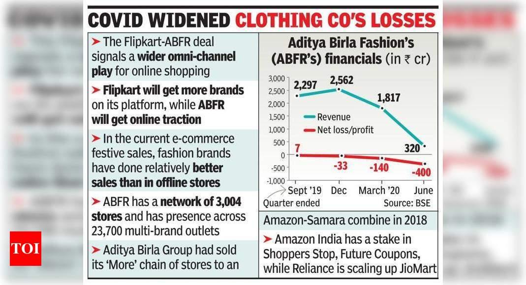 Aditya Birla Fashion to sell 8% to Flipkart for Rs 1,500 crore – Times of India