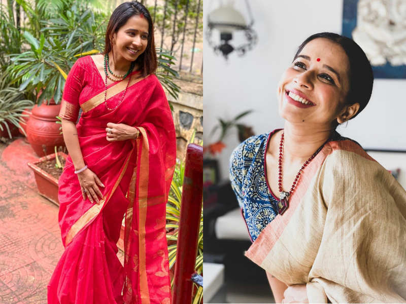Shreya Bugde, along with her mother enjoyed Saptami lunch at her friend's house; says she is loving the low-key celebrations this year Pics: @shreyabugde
