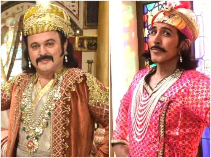 Ali Asgar and Vishal Kotian in the TV show 'Akbar Ka Bal...Birbal'