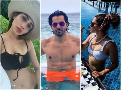 Celebs on a beach vacay amid the pandemic