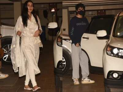 Pics: Sara-Ibrahim visit Saif at his residence