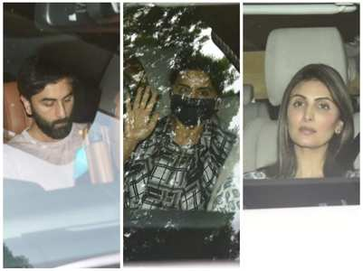 Ranbir and fam arrive at Alia's residence