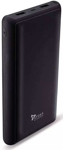 Syska Power Pro200 20000mAh Li-Polymer Power Bank (Black)